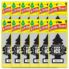 [メール便送料無料] ブラックアイス 12個セット / Little Trees リトルツリー アメリカン雑貨