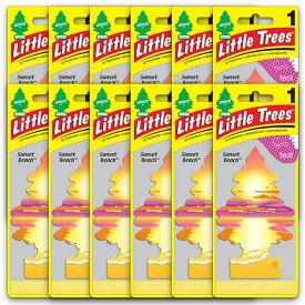 [メール便送料無料] サンセット・ビーチ 12枚セット Sunset Beach / Little Trees リトルツリー アメリカン雑貨