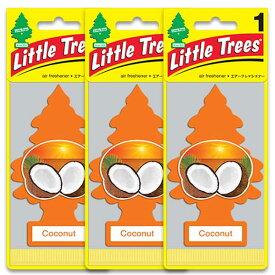 [メール便送料無料] ココナッツ 3枚セット / Little Trees リトルツリー アメリカン雑貨