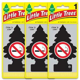 [メール便送料無料] No Smoking ノースモーキング Crispn Cool クリスプンクール 3枚セット / Little Trees リトルツリー アメリカン雑貨