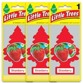 [メール便送料無料] ストロベリー 3枚セット / Little Trees リトルツリー アメリカン雑貨