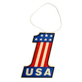 エアフレッシュナー [No.1 ナンバーワン 星条旗] アメリカン雑貨