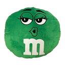 クッション Green 緑 / M&M's エムアンドエムズ ぬいぐるみ アメリカン雑貨