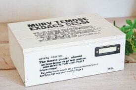 あす楽】BREA ブレア カントリーBOX フタ付き アンティーク 金具付き (ホワイト 白) 国産 木箱アメリカン フレンチ ナチュラル カントリー 北欧 雑貨 安い 日本製 レトロ調