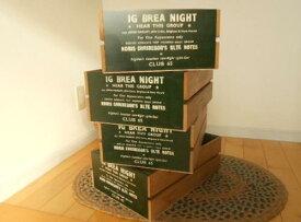 あす楽】BREA ブレア 木製 GAP ギャップ BOX L ダークグリーン 濃い 緑 木箱 国産 日本製アメリカン フレンチ ナチュラル カントリー 雑貨 男前  ツートン カラー ガーデニング 安い