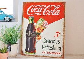 ブリキ製サイン TINサイン 欧米 USA 版 Coca Cola コカ コーラ TINサイン ブリキ看板 Delicious Refreshingアメリカン フレンチ カントリー インテリア 雑貨 酒場 酒 男の子 ボーイ 男前