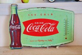 あす楽】欧米 USA版 Coca Cola コカ コーラ ブリキ製 TINサイン 看板 THERMOMETER 温度計 付きアメリカン フレンチ カントリー インテリア 雑貨 アメリカ 製品 サーモメーター