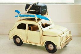フィアット 500 プチカー クラッシックカー ブリキ製 オブジェフレンチ ナチュラル カントリー 雑貨 北欧 インテリア サーファー フィアット 峰 欧風 洋風 レトロ アンティーク 素敵な ルパン三世 COVENT GARDEN コベントガーデン ルパン 不二子