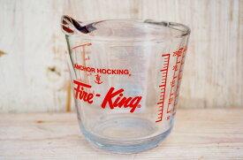 絶版 FK ファイヤーキング 耐熱 強化 ガラス メジャー カップ 250cc ファイアーキング アンカーホッキング 計量カップアメリカン カントリー 雑貨 インテリア ナチュラル 北欧 キッチン メジャーリング カップ メジャーカップ ガラス 装飾 Fire-King ファイヤキング