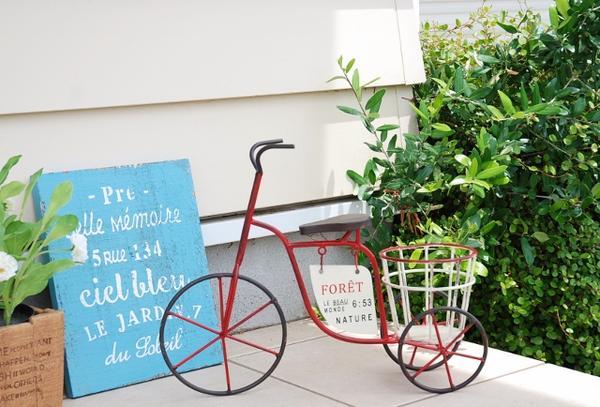 あす楽】you-zen ゆうぜん 友膳 フォレギャルソンジャルダンベル(S) レッド 赤 自転車 ガーデン ガーデニング 雑貨 アメリカン フレンチ ナチュラル カントリー 雑貨 インテリア サイクル バイク 植木鉢