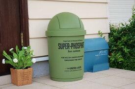 あす楽】ジェニーズカルチャーマート 35L ダストビン ゴミ箱  OLIVE オリーブ グリーン 緑 プラスチック 樹脂製品 フタ付き ダスト缶アメリカン カントリー インテリア 雑貨 トラッシュ アメカジ 屋外 野外 ごみ箱