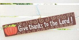 コレにて完売・あす楽】アントステラ 木製ボードTis The Thanks/Give Thanksハロウィーン & クリスマスアメリカン カントリー インテリア 雑貨 ガーデン ボード ナチュラル