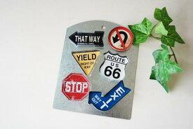 あす楽】COVENT GARDEN コベントガーデン ロードサイン マグネット 6個セット 道路標識 デザイン 磁石アメリカン フレンチ カントリー インテリア 雑貨 冷蔵庫