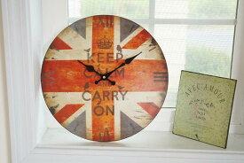 あす楽】HAT TRICK ハットトリックWALL CLOCK ボード クロック 時計 WORK HOUSE F アメリカン フレンチ カントリー 北欧 インテリア 雑貨 イギリス 国旗 ユニオンジャック 安い 丸い 壁掛け