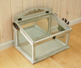 ガラスケース 40cm 送料無料 コベントガーデン デボラ ショーケース S カントリー 雑貨 ガーデニング ディスプレイケース 観葉植物 グリーン コレクションケース ガラスケース シャビーシック 欧風 洋風 ヨーロッパ調 レトロ アンティーク 素敵な kk01
