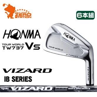 책 골프 ホンマ 투어 월드 TW737Vs 아이언 HONMA TOUR WORLD TW737Vs IRON 6 개의 쌍 비 마법사 VIZARD IB 카본 샤프트 메이커 지정 일본 정품