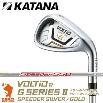 KATANA 카 타나 2016 년 모델 VOLTIO IV G SERIES II IRON ボルティオ IV G 시리즈 II 아이언 8 개 세트 SPEEDER SILVER 카본 샤프트