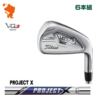 Titleist 2018 VG3 iron Titleist VG3 IRON 6 regular company of fire fighters PROJECT X steel shaft maker custom Japan model
