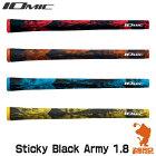 IOMIC_イオミック_Art_Grip_Series_Sticky_Black_Army_1.8_スティッキー_ブラック_アーミー_1.8_ゴルフグリップ_[バックライン有/無]