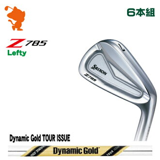 danroppusurikuson Z785雷布TEAR伊安DUNLOP SRIXON Z785 Lefty IRON 6部組Dynamic Gold TOUR ISSUE鋼鐵軸廠商特別定做日本正規的物品