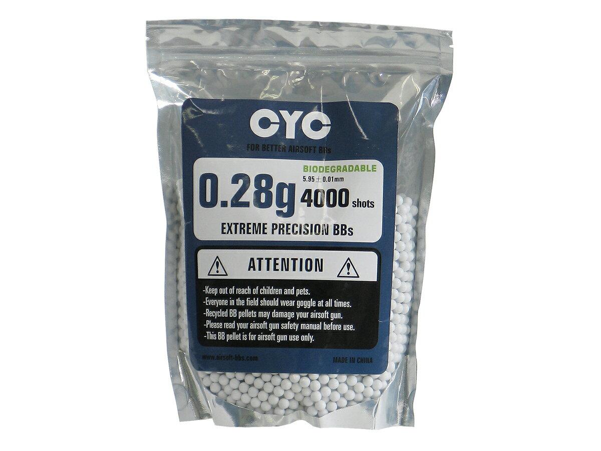 CYC バイオ6mmBB弾 - 0.28g - 4000発入り <5.95+-0.01mm>