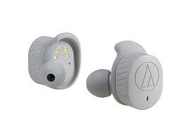 audio-technica - ATH-SPORT7TW-GY(グレー)(防水機能付き・完全ワイヤレスイヤホン)【店頭受取対応商品】【在庫有り即納】