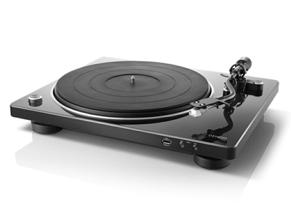 DENON - DP-450USB/ブラック(USBメモリー録音対応・ベルトドライブ方式・レコードプレーヤー)【店頭受取対応商品】【在庫有り即納】
