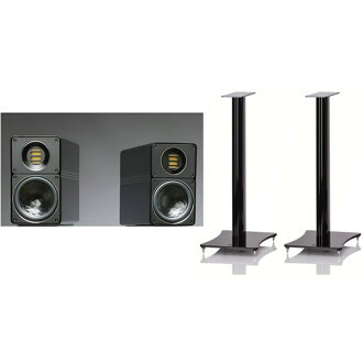 ELAC BS312-30SET (speaker BS312 (two one set) and stands LS-30HB set high gross black) スピーカーエラック