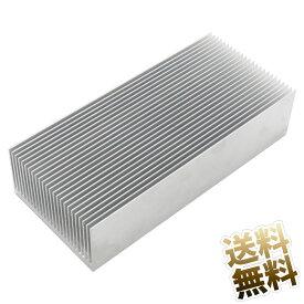 ヒートシンク アルミ 放熱板 1点 約 69mm × 150mm × 37mm シルバー