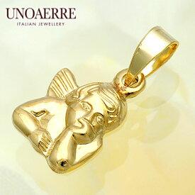 ウノアエレ【UNOAERRE】K18イエローゴールドペンダントトップ #1072
