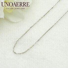 ウノアエレ【UNOAERRE】K18WGホワイトゴールド ネックレス チェーン 10014#3058