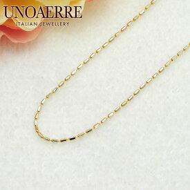 ウノアエレ【UNOAERRE】K18/K18WGイエローゴールド/ホワイトゴールド ネックレス チェーン 14863#3062