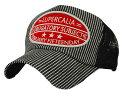 【 送料無料 】 帽子 メッシュ キャップ 英字ロゴワッペン&215刺繍 (ブラック) メンズ UVカット 紫外線対策 アメリカ…