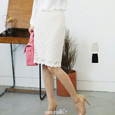 MLLL3L4L5Lレースタイトスカート(レディースファッション/ボトムス/スカート/ロングスカート/ナイロン・レーヨン・ポリエステル/フレア)洗える厚め軽量ルームウェアストレッチレディースフレア伸縮性