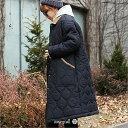 キルティングコート キルティング ジャケット 大きいサイズ ロング フード レディース レディース コート 大きいサイズレディース ニットニット生地 冬コート 暖かい あたたかい ボリューム モッズコート アウター ミリタリーコート