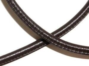 [CE004]片ステッチ皮ひも(ワンサイドステッチレザーコード) 10mm 10cm【革紐/皮紐/持ち手・ショルダーひも】[RPT]