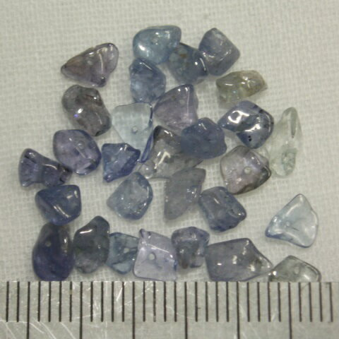 [HA002]天然石ビーズ タンザナイト さざれ(チップ) 約5cm分