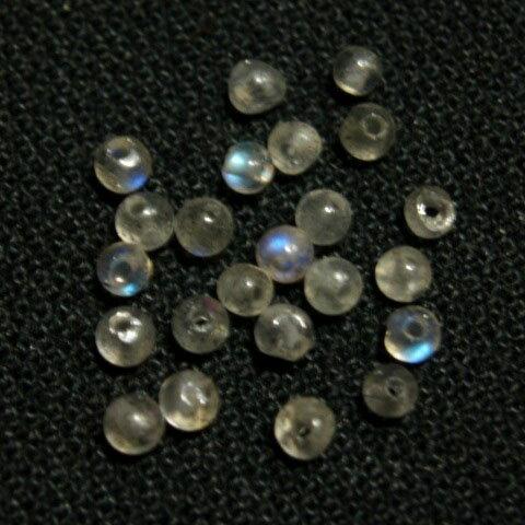 [HA100]天然石ビーズ ラブラドライト 約2mm ラウンド 約22ケ