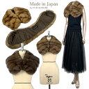 豊かな毛並ロシアンセーブル大衿カラー 日本縫製