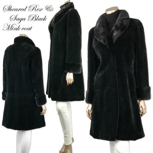 シェアードレッキス&ブラックミンクヘチマ衿コート