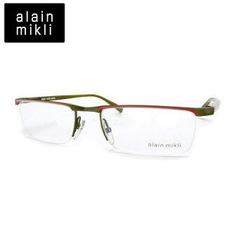 优惠券和点评。 ALAIN MIKLI Mr.Alain 眼镜框架 A0668 颜色: 11 ALAIN MIKLI