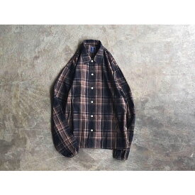 【melple】メイプル 『BED TO PARK』 Cotton Linen Coaches Shirt style No.19FW-MP036