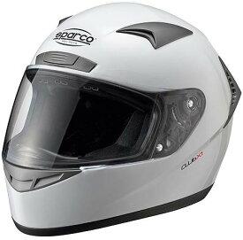 SPARCO スパルコ ヘルメット CLUB X-1 走行会 カート 4輪用 フルフェイスヘルメット レーシングヘルメット レーシング メット フルフェイス 4輪ヘルメット 四輪用ヘルメット カート かっこいい おしゃれ オシャレ 白 黒 ホワイト ブラック XS S M L XL XXL 大きいサイズ