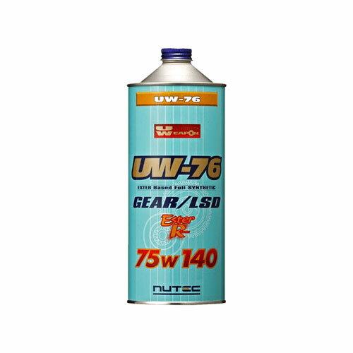 NUTEC ニューテック100%化学合成ギアオイル 75W1401L缶 【UW-76】