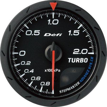 [Defi] デフィ Defi-Link Meter ADVANCE CR ターボ計/ブースト計 60φ 黒 2.0K ブーストメーター