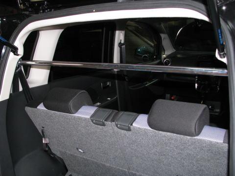 [カワイ製作所] リアピラーバー (ストレートタイプ) 【 ekカスタム/ワゴン [B11W] ('13/06-) 】 ※後部座席乗員不可