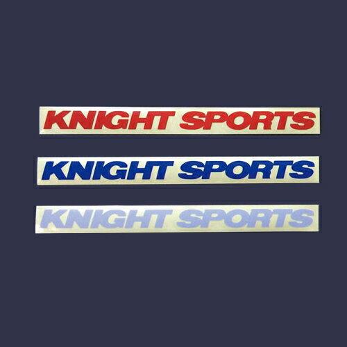 "[KNIGHT SPORTS]ナイトスポーツ リフレクターステッカー ""KNIGHT SPORTS""-S (80×12mm) 1枚"