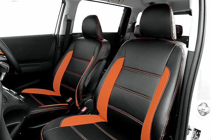 Auto wear オートウェア シートカバー シエンタ 170系専用デザイン ブラック + オレンジ シエンタ NHP170G NSP170G 2015年07月〜2018年08月 7人 G / X / X-Vpackage