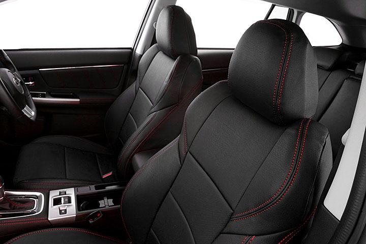 Auto wear オートウェア シートカバー レヴォーグ スポーツMC後専用デザイン ブラック / 赤ステッチ レヴォーグ VM4 VMG 2017年08月〜現行 1.6 / 2.0GT-S EyeSight / 1.6 STI Sport /2.0 STI Sport