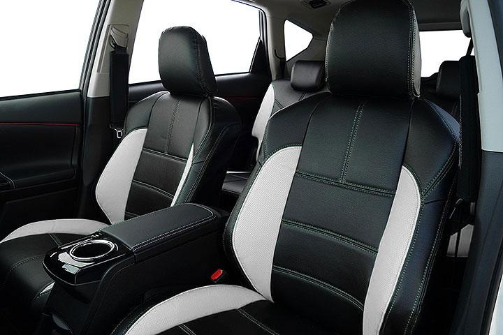 Auto wear オートウェア シートカバー プリウスα 40系 G's専用デザイン ブラック + ホワイト プリウスα ZVW40W ZVW41W 2015年01月〜 5人 G's